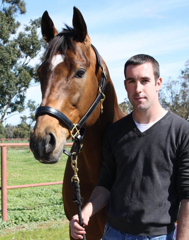 Universal Ruler  Scenic Lodge sire with stallion manager Damien Kirwin