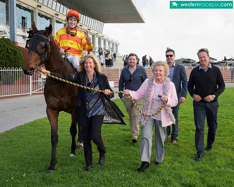 BUSTER'S SHADOWSon of Oratorio returns to scale with Jenny Harrison and Shirley PiperPhoto / Western Racepix