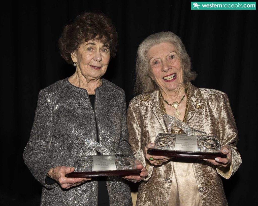 LIFETIME ACHIEVEMENT AWARDSLois Taylor (left) and Marjorie Charleson honoured at the WAROA Awards